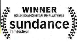 Winner of Sundance festival sign